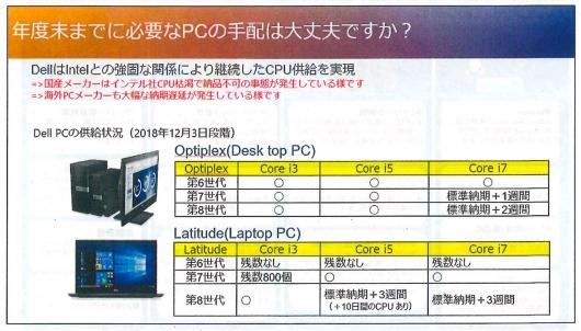 Dell EMCから届いたレターの一部